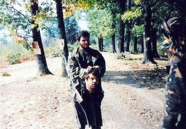 Bloody St Peter Day in Bratunac- After Srebrenica' Muslims beheaded young Serb they played soccer with his head