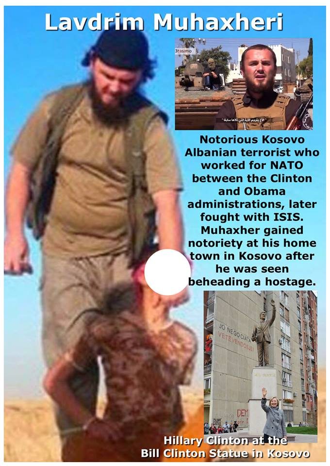 Most of Albanian ISIS terrorists from Kosovo were Clinton's assets during the illegal NATO war against Serbia in 99
