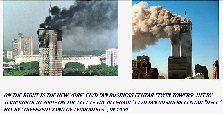 Did NATO gave Al-Qaeda an idea how to attack NY Towers on September 11 by bombing civilian skyscraper in Belgrade?