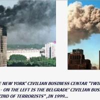 Did NATO gave Al-Qaeda an idea how to attack NY Towers on September 11 by bombing civilian skyscraper in Belgrade?