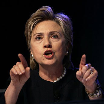 AgoraBeograd ObL38 HILLARY CLINTON POINTING TO ALLEGEDLY  GREATER FOOL